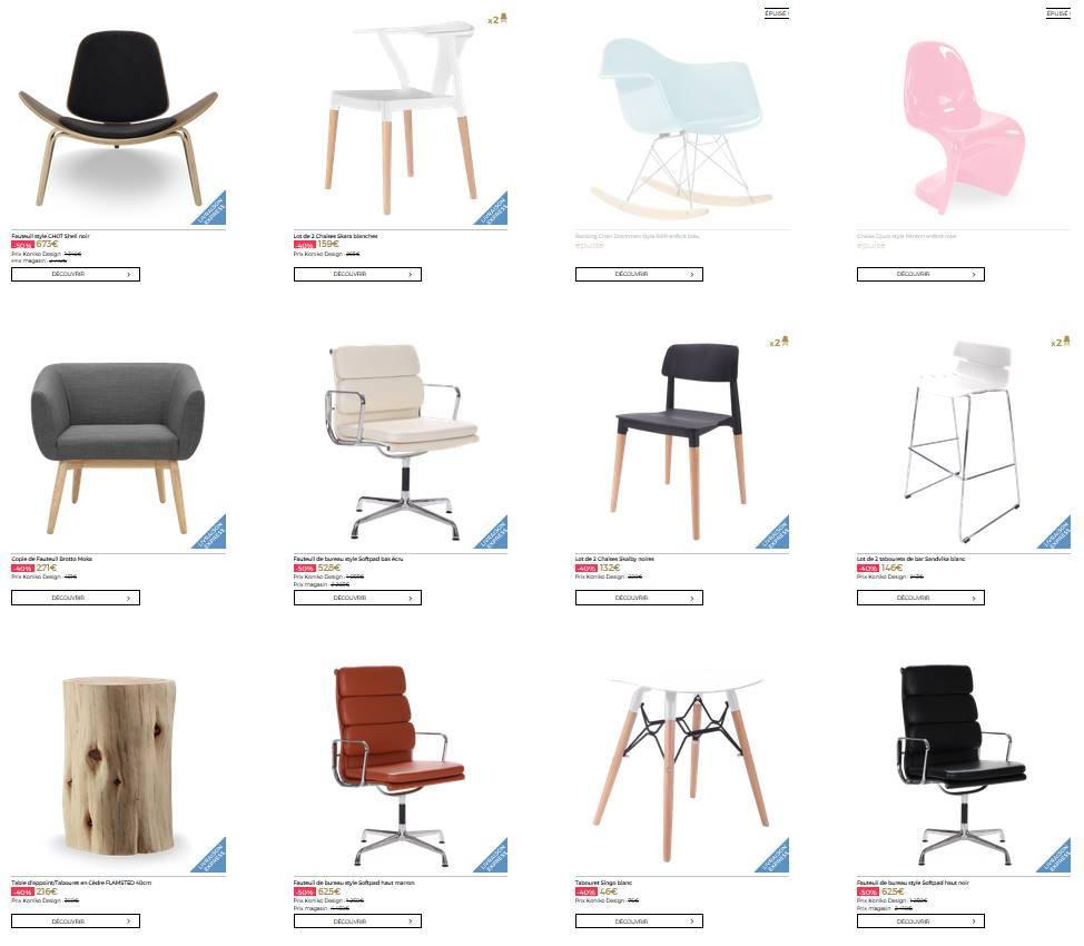 Sélection de chaises