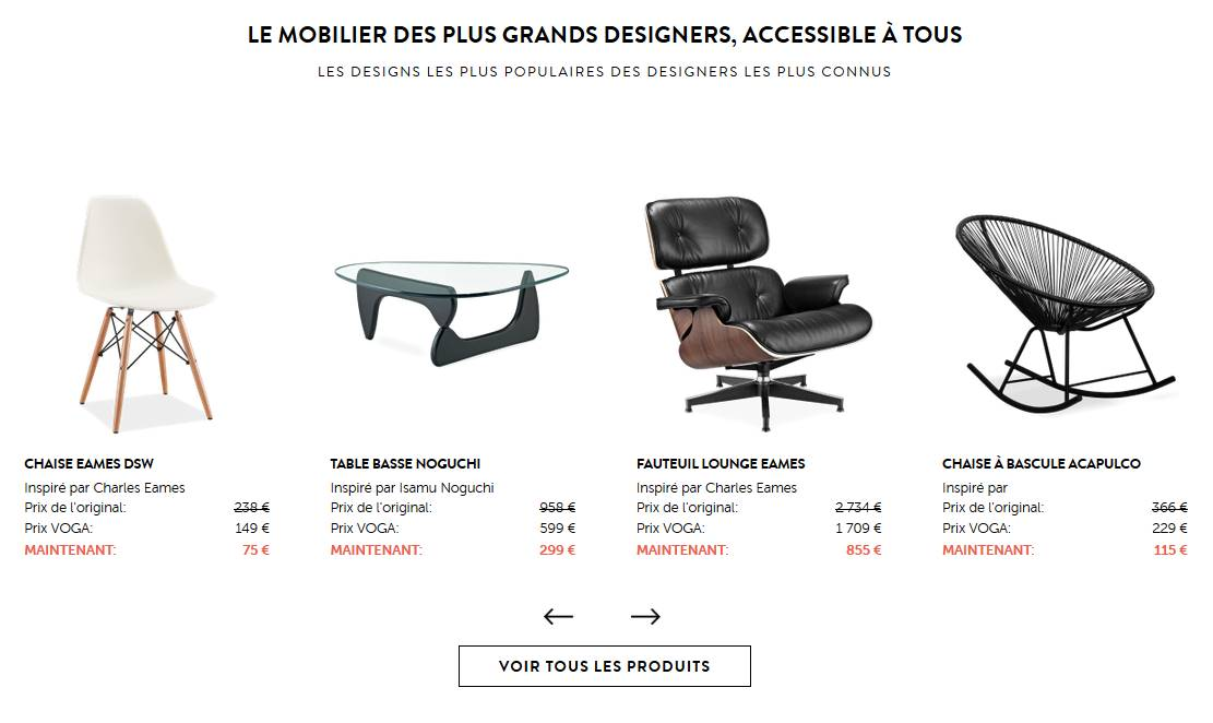 Mobilier de designers